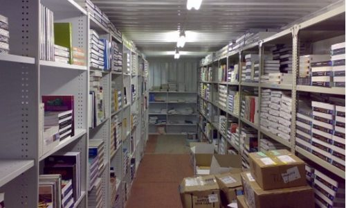 Modified 12m shipping container library