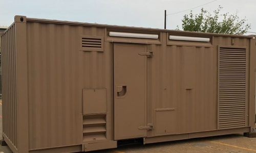 Rapididly deployable self-contained shipping container workshop