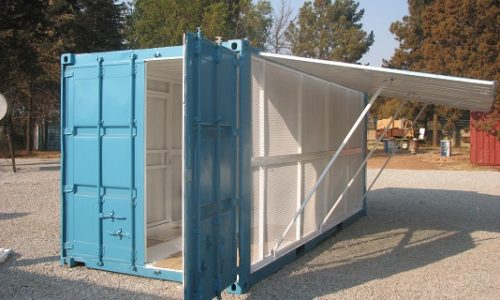 6m shipping container gas store = ventilation and security
