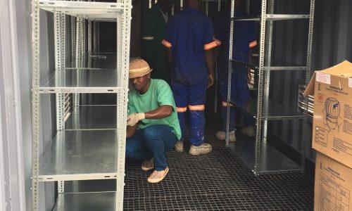 Raised floor with bunding for hazourdous chemical store