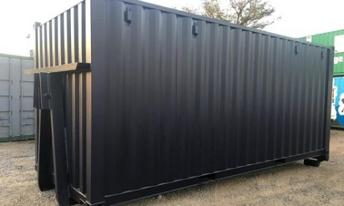 Recycling bin from 6m modified shipping container