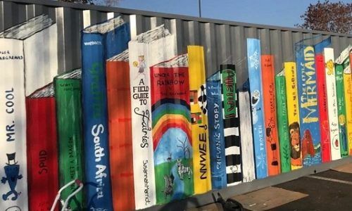 Shipping containers great for street art!