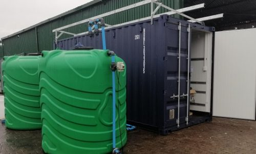 Containerised water treatment plant