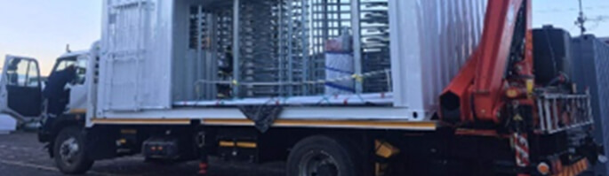 access control containers transported
