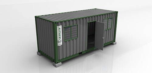 Basic Office Container - Park Home